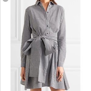 Maje Tie Front Gingham Dress